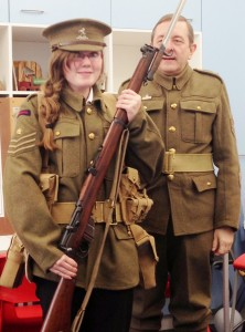 Charlotte Evans; the WW1 soldier!