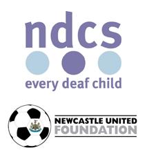 National Deaf Children's Society & Newcastle United Foundation logo.