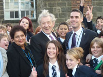 Prince Henry'€™s Grammar School - with Sir Ian McKellen and sporting 'Some People are Gay' t-shirts.