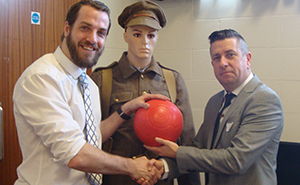 Chris Gregory & Ernie Brennan with PFP Poppy football_w300_h185