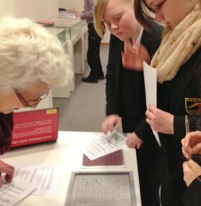 HBHS pupils exmaine school log books