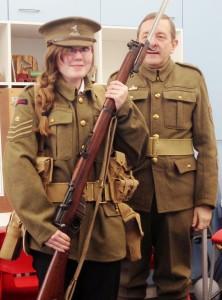 Charlotte Evans; the WW1 soldier!