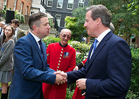 Ernie Brennan with Prime Minister David Cameron 01 07 14_280_200